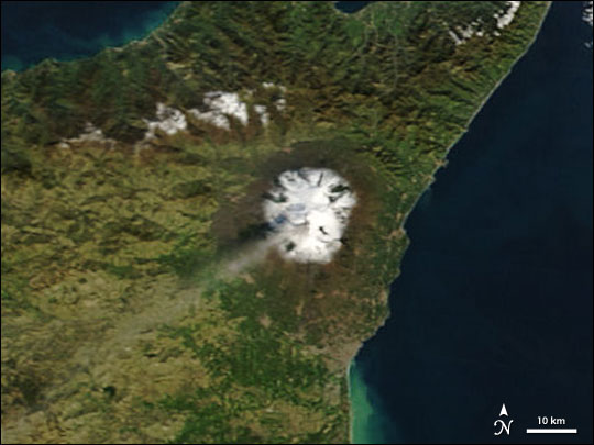 Ash Flows from Mount Etna
