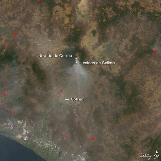 Eruption of Colima Volcano