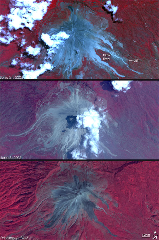 Eruption of Colima Volcano