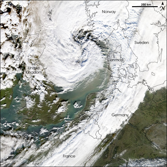 Severe Winter Storm in Northern Europe