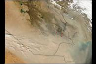 Shamal Winds Drive Middle East Dust Storm