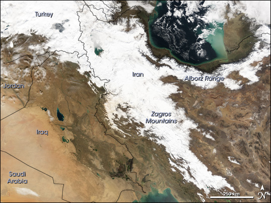 Snow in Iran