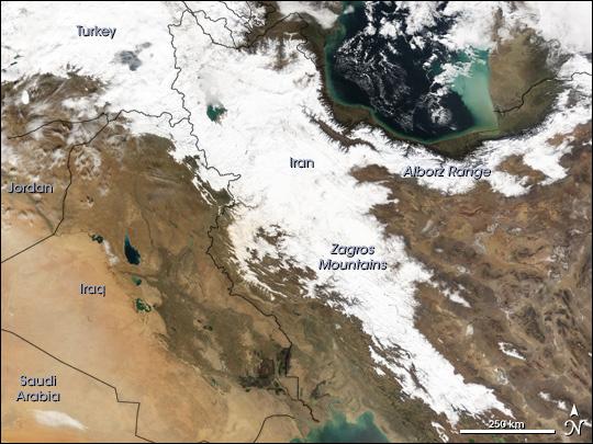 Snow in Iran