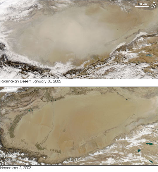 Dust Storm in Taklimakan Desert