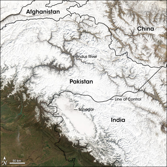 Snow in the Hindu Kush