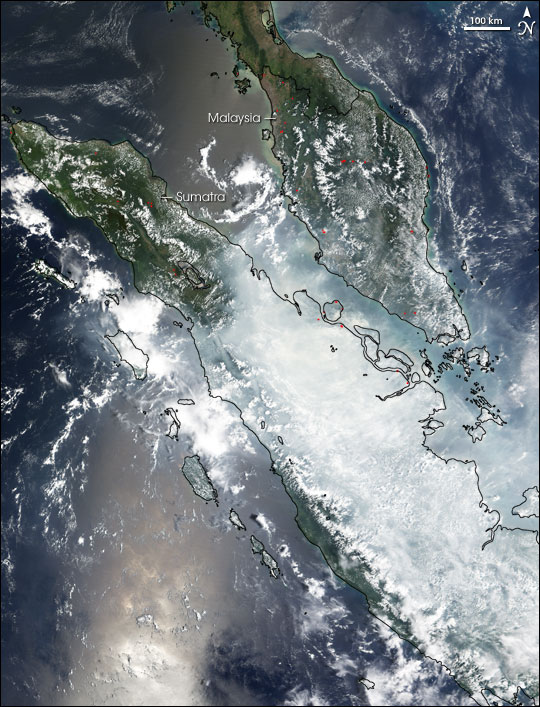 Fires and Smoke in Sumatra