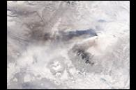 Ash Cloud from Shiveluch Settles on Kamchatka