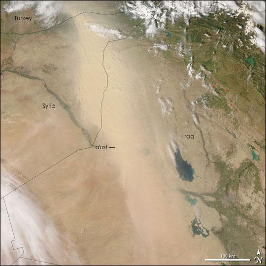Dust Storm Blows Across Iraq