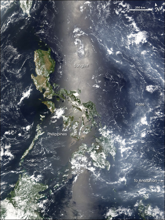 Haze over the Philippine Sea