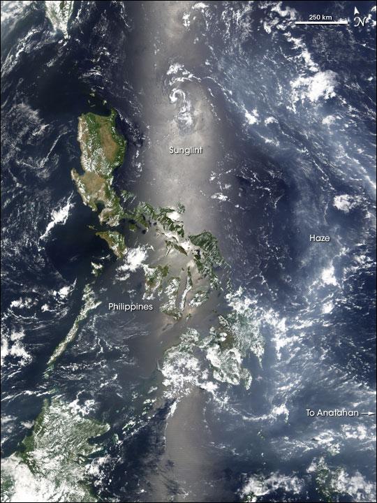 Haze over the Philippine Sea