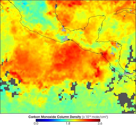 Smoke over Central America