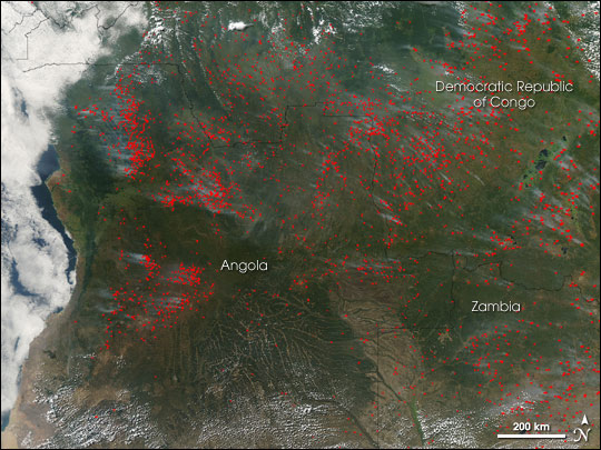 Fire Season in Central and Southern Africa