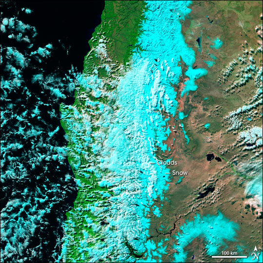 Blizzard in southern Chile