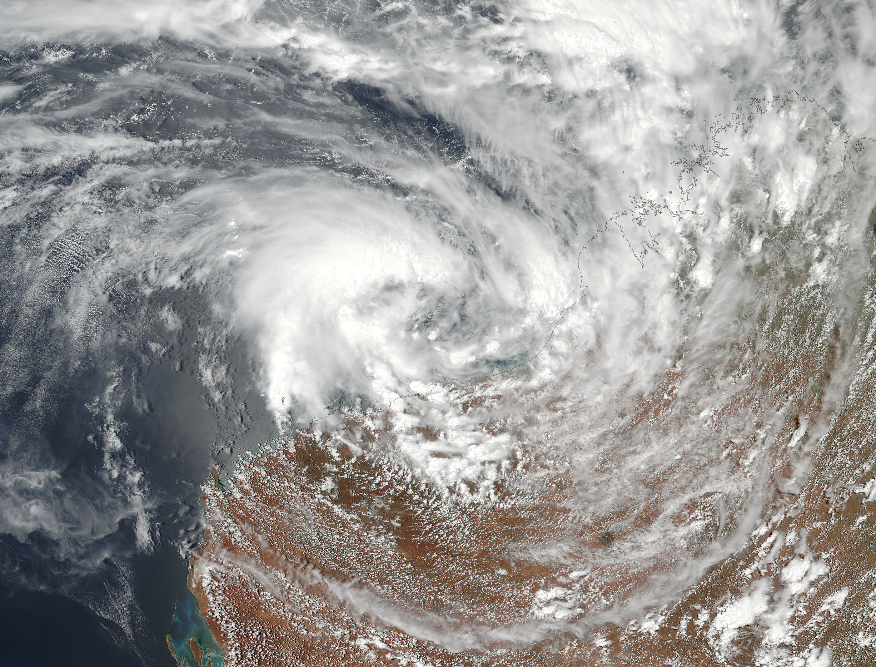 Tropical Cyclone Three (03S) off Australia - related image preview
