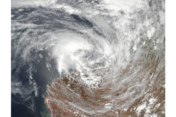 Tropical Cyclone Three (03S) off Australia - selected image