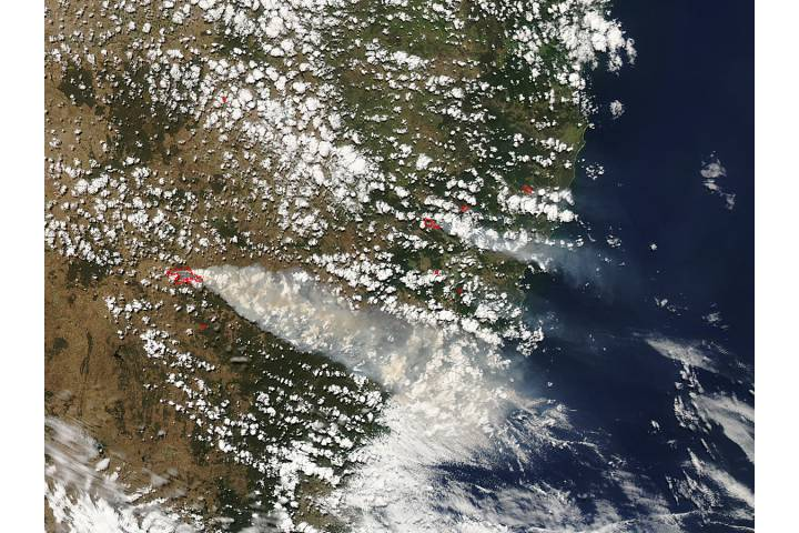 Fires in eastern New South Wales - selected image