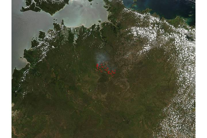Fires in Northern Territory, Australia - selected image