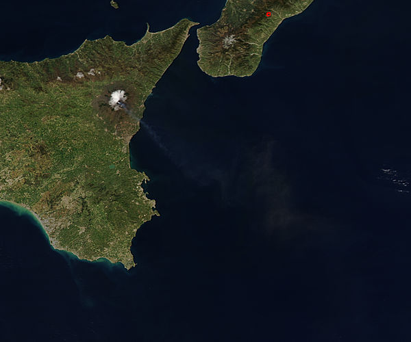 Plume from Mt. Etna in Sicily (afternoon overpass) - related image preview
