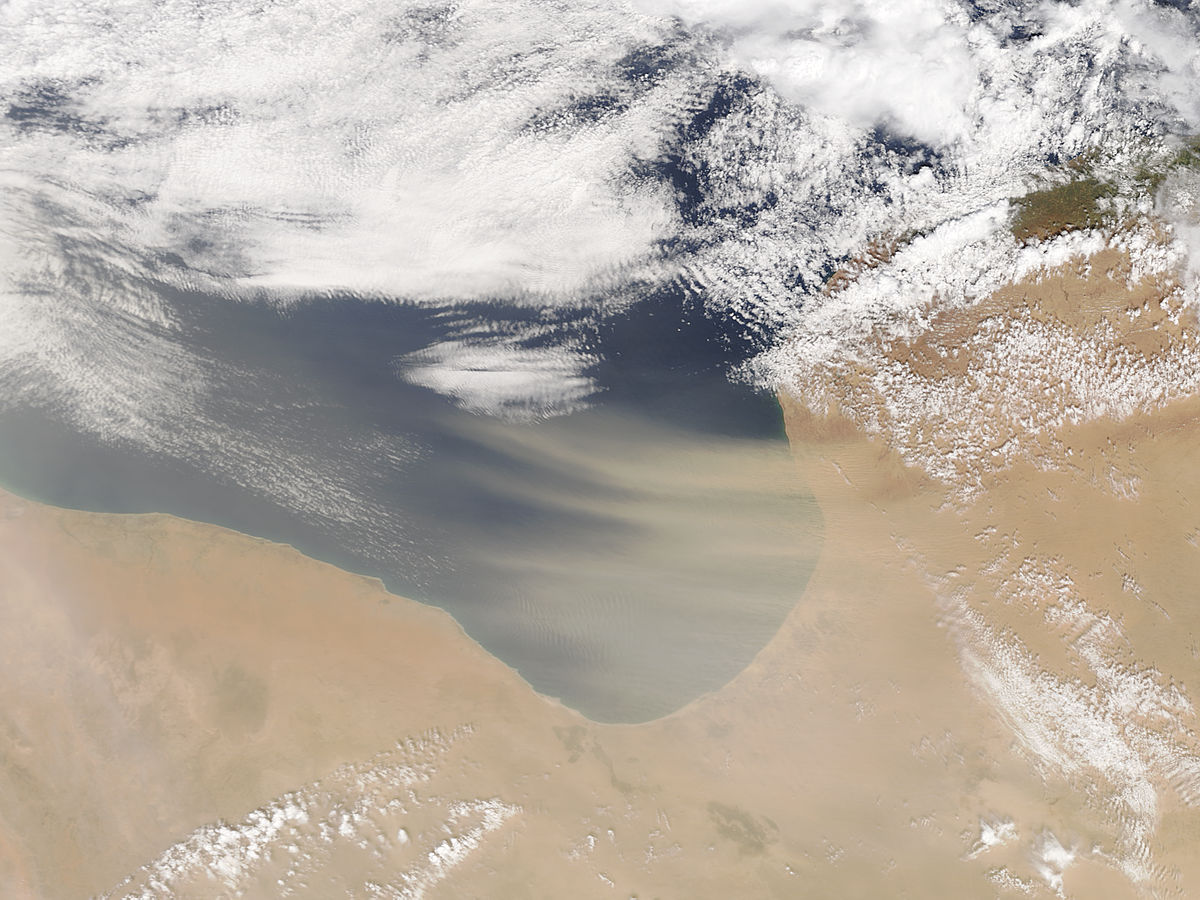 Dust storm off Libya (morning overpass) - related image preview