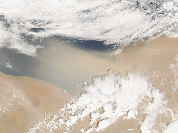 Dust storm off Libya (afternoon overpass) - related image preview