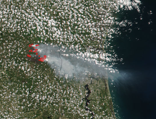 West Mims Fire, Georgia - related image preview