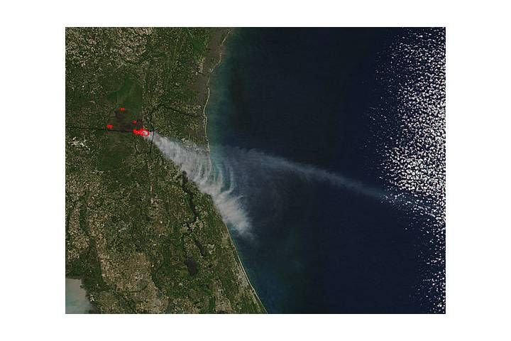 West Mims Fire, Georgia - selected image