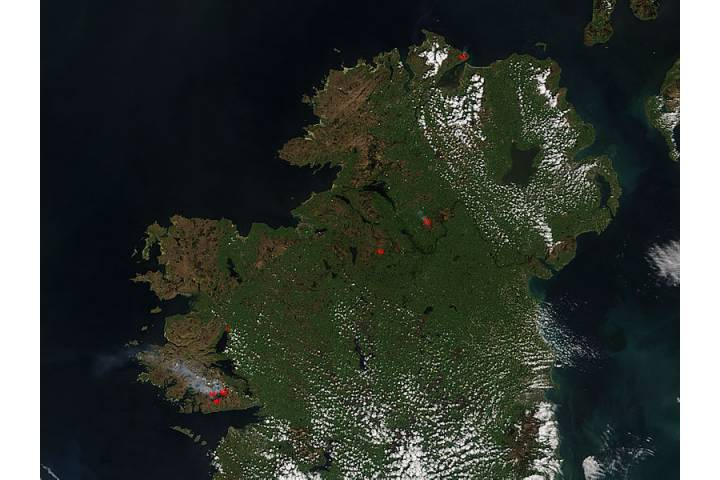 Fires in Ireland - selected image