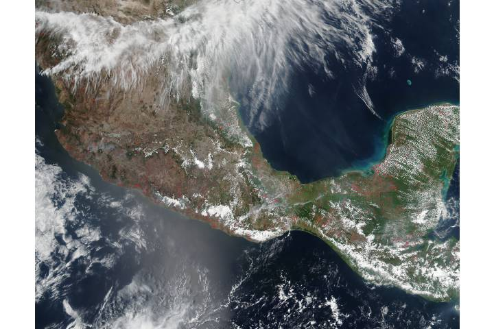 Fires in Central America - selected image