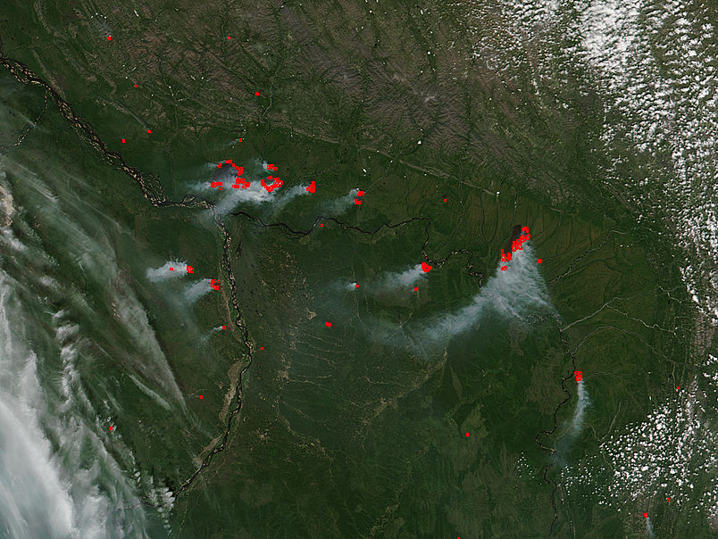 Fires in eastern Russia - related image preview