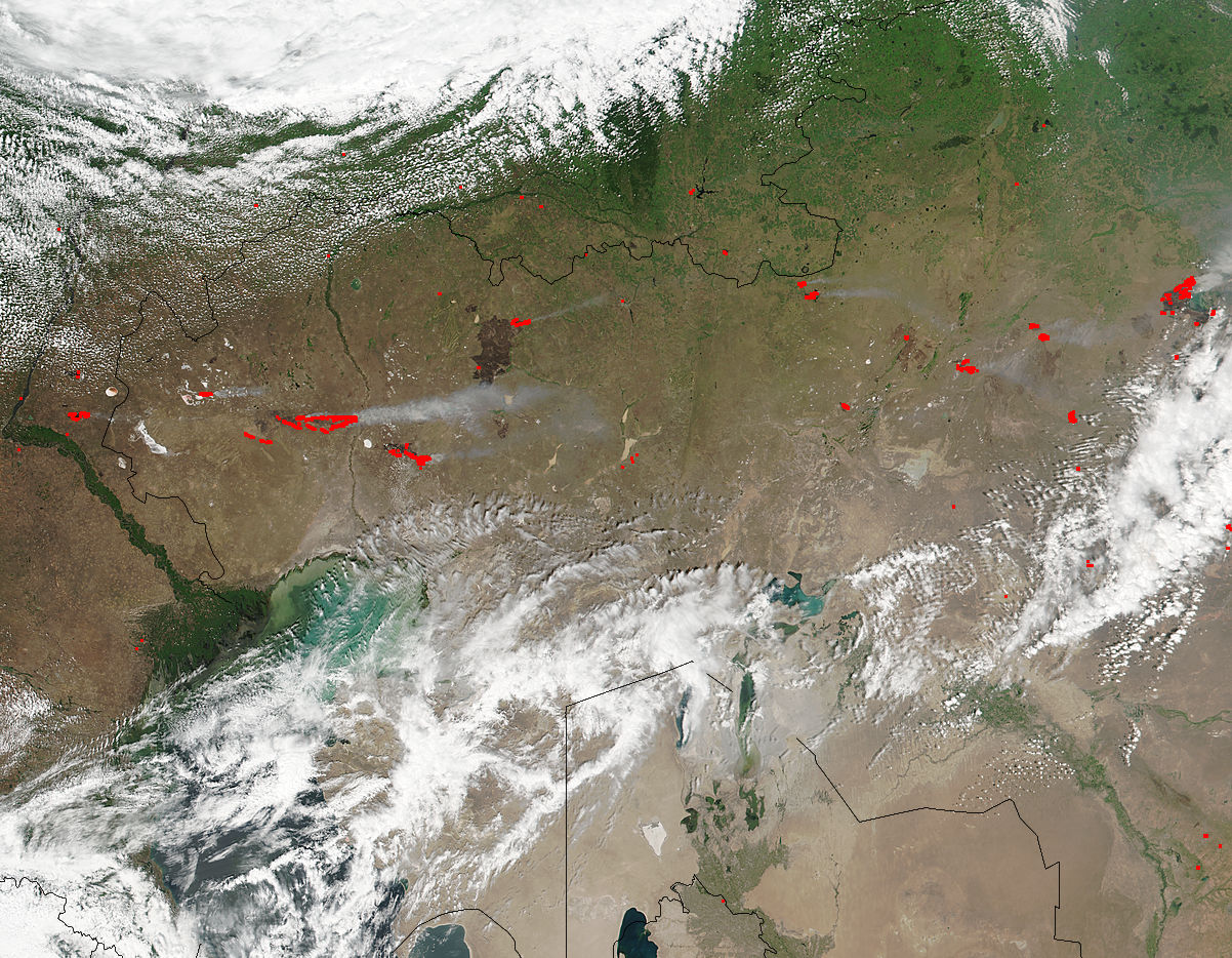 Fires in western Kazakhstan - related image preview