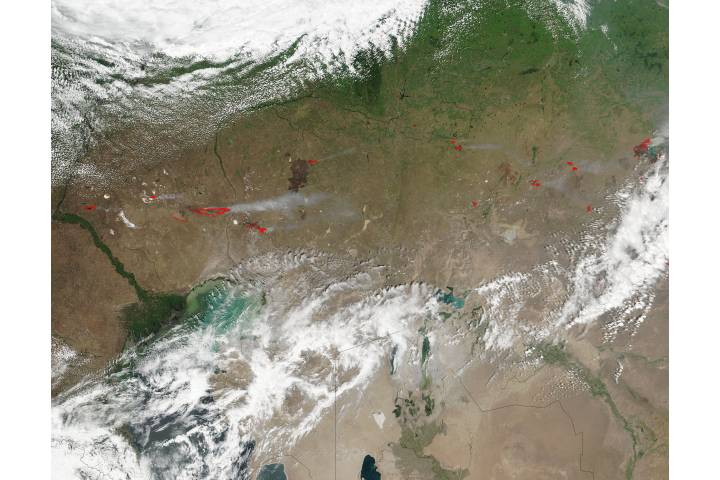 Fires in western Kazakhstan - selected image