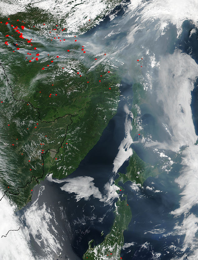Smoke from fires in eastern Russia - related image preview