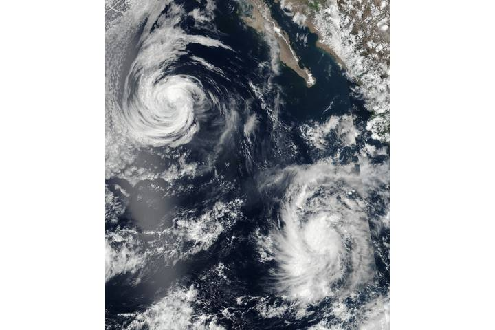Tropical Storm Eugene (05E) and Tropical Depression Six (06E) in the eastern Pacific - selected image