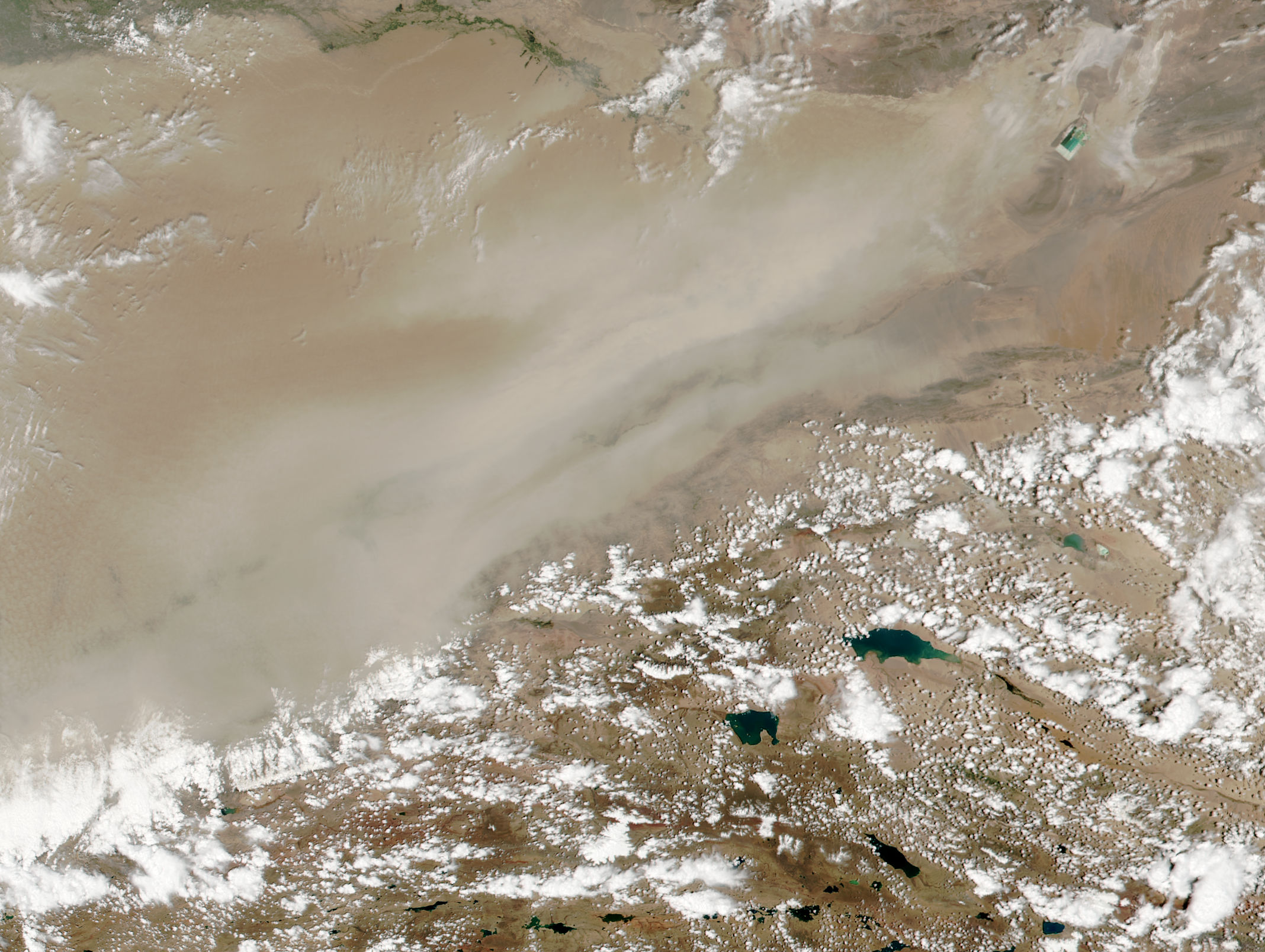 Dust storm in the eastern Taklimakan Desert, Western China - related image preview