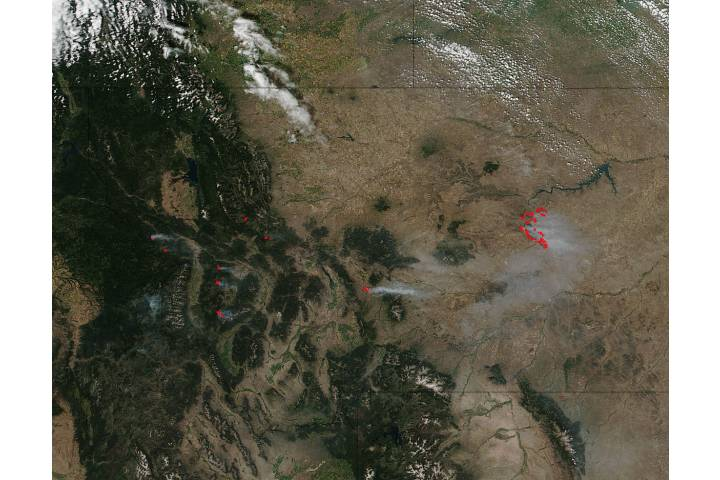 Fires in Montana - selected image