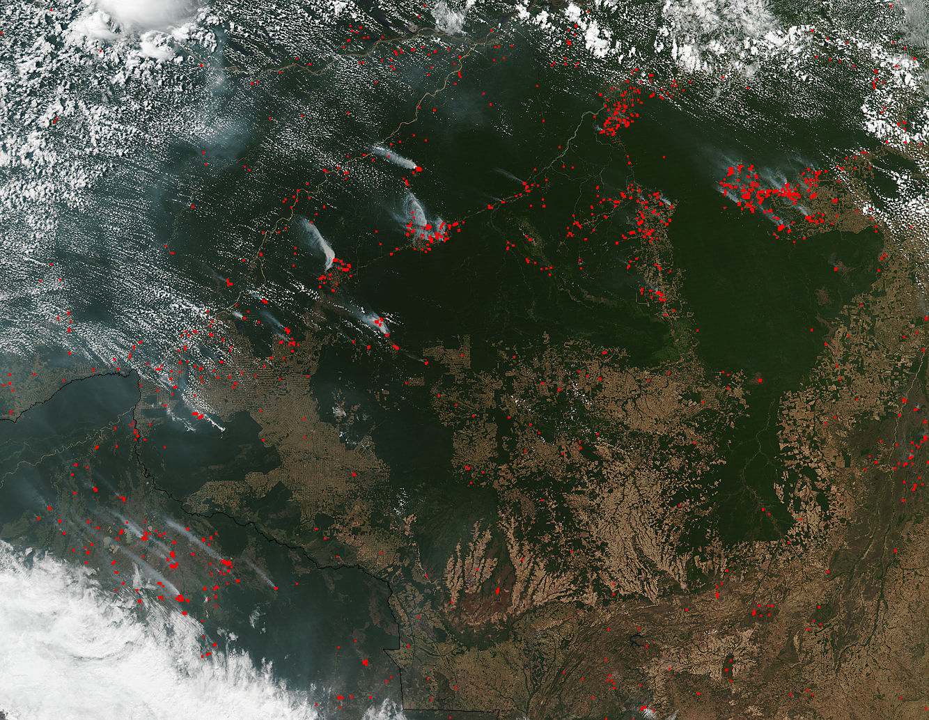Fires in central South America - related image preview
