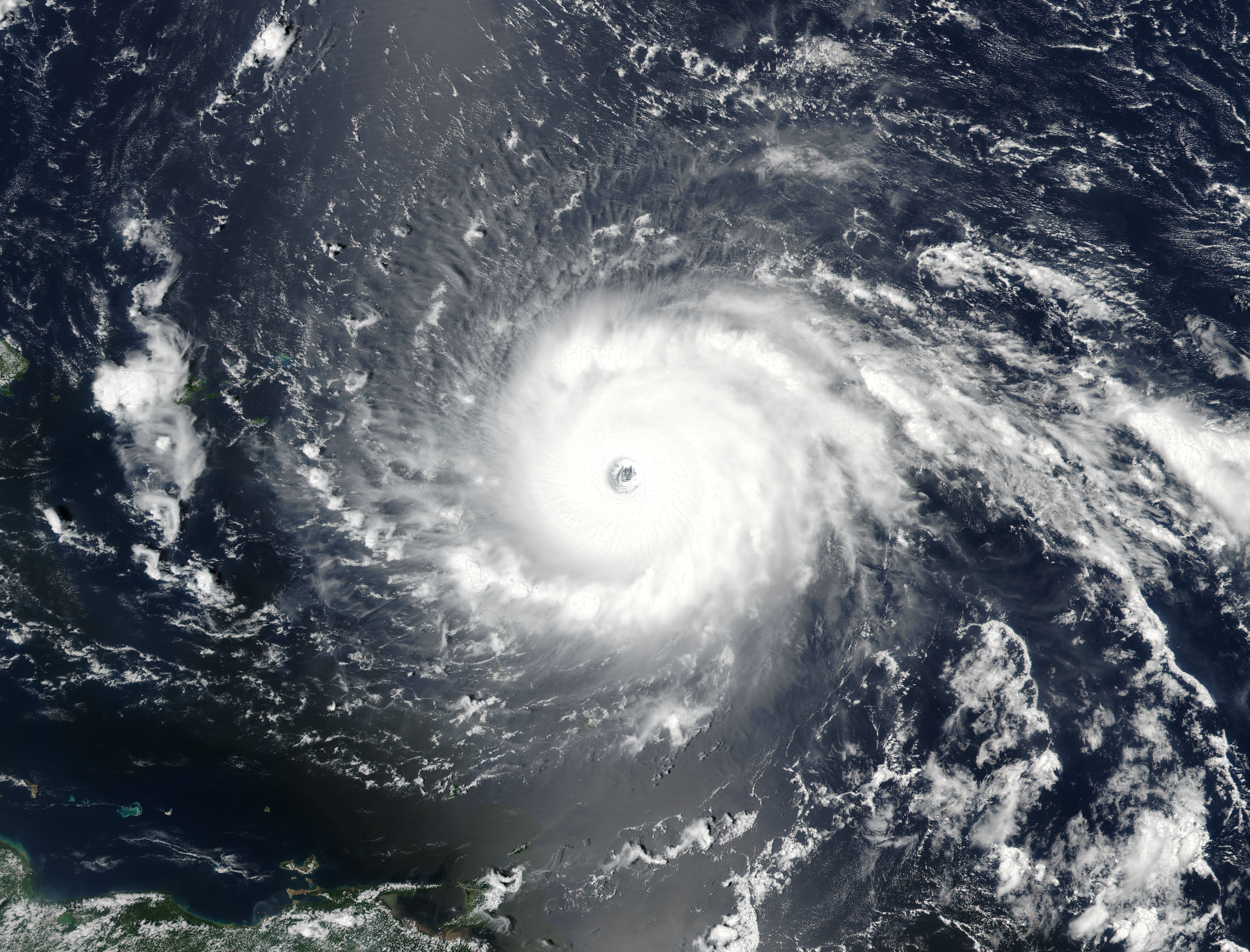 Hurricane Irma (11L) approaching the Leeward Islands - related image preview