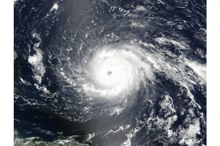 Hurricane Irma (11L) approaching the Leeward Islands - selected image