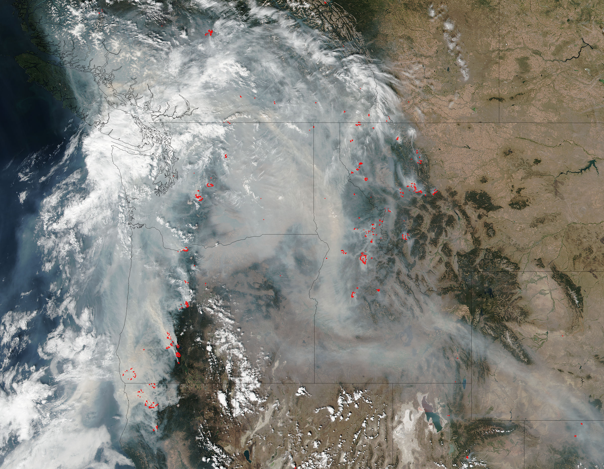 Fires and smoke in the Pacific Northwest - related image preview
