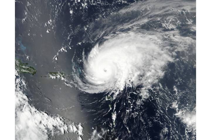 Hurricane Jose (12L) over the Leeward Islands - selected image