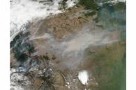 Fires and smoke across the western United States