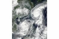 Typhoon Talim (20W) and Tropical Storm Doksuri (21W) off southeast Asia