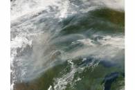 Smoke over the upper Midwest