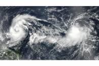 Tropical Storms Lee (14L) and Maria (15L) in the Atlantic Ocean