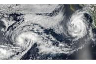 Tropical Storms Otis (15E) and Norma (17E) in the eastern Pacific Ocean
