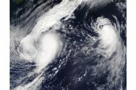 Tropical Storms Lee (14L) and Maria (15L) in the Atlantic Ocean
