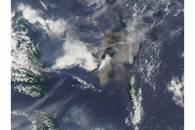 Ash plume from Aoba Volcano, Vanuatu