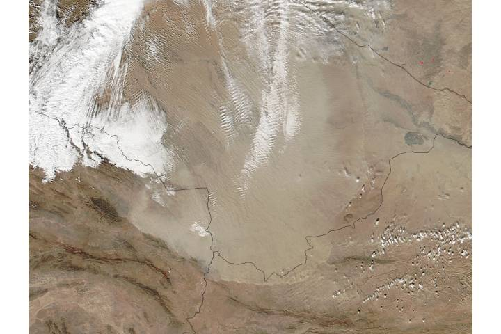 Dust storm in Turkmenistan - selected image