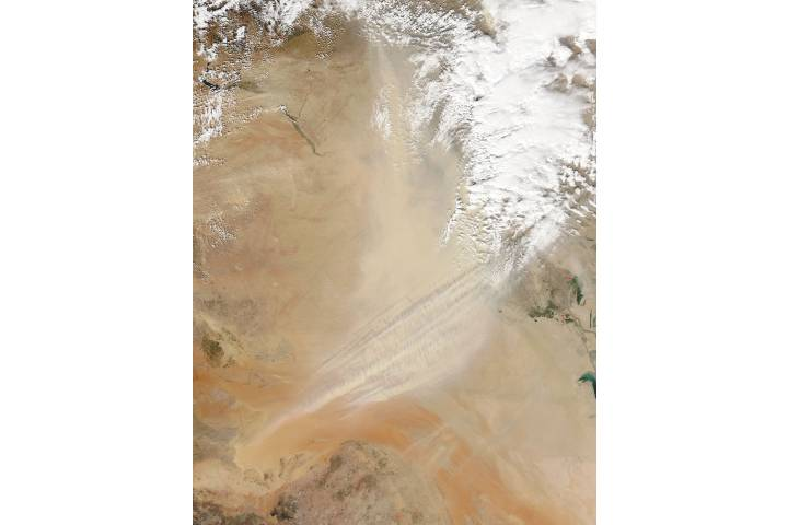 Dust storm in Iraq and Saudi Arabia - selected image