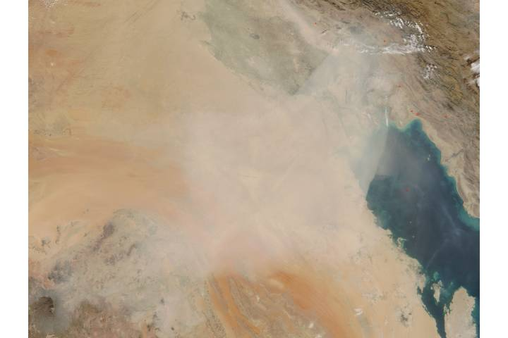 Dust storm in Iraq, Kuwait, and Saudi Arabia - selected image